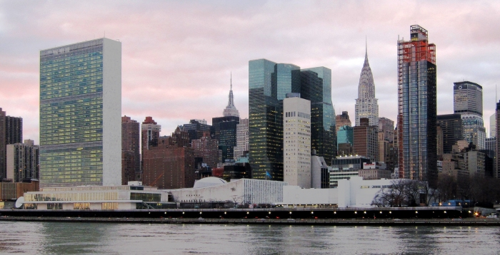 The UN Headquarters in New York City. Photo courtesy of Neptuul.