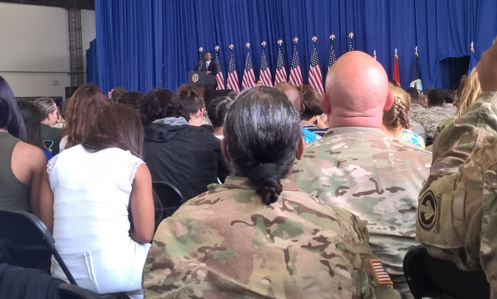 Witnessing President Obama at MacDill Airforce Base.