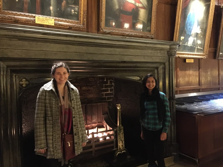 Kaitlyn Stockdale and Kamakshi Dadhwal in Christ Church Hall