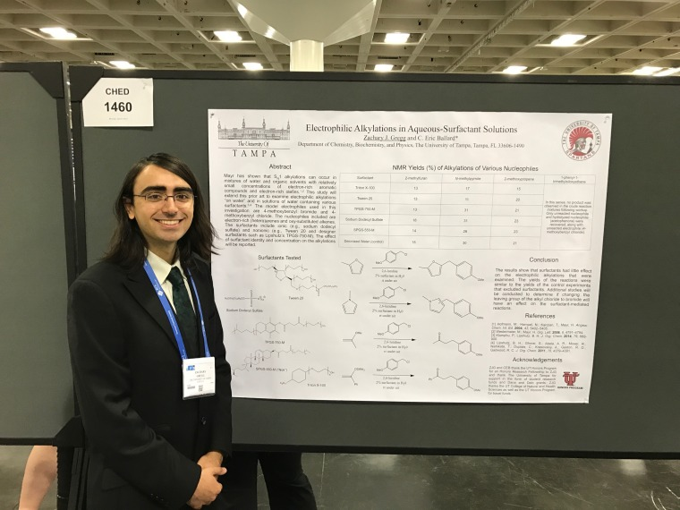 Zachary Gregg at the American Chemical Society National Conference