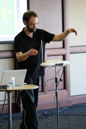 Dr. Blackburn presenting at an his symposia