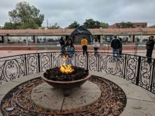 the eternal flame at the tomb of Martin Luther King Jr. and his wife Coretta Scott King