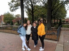 (from left to right: Carla Shapira, Delaney Russell, Dr. Tillman, and Hanifah Griffith)