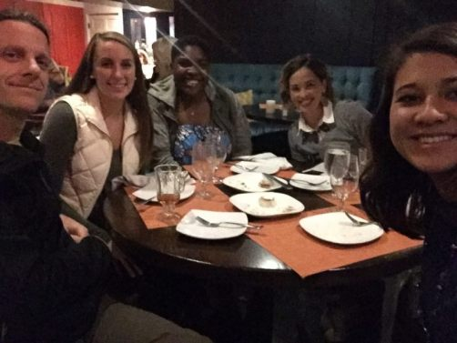 (from left to right: Dr. Cragun, Delaney Russell, Hanifah Griffith, Dr. Tillman, Carla Shapira)