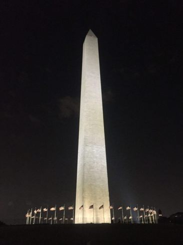 The Washington Monument - Up close at night