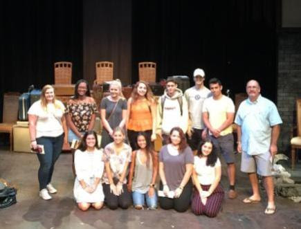 Dr. Rey's Honors course at the theater after the play.